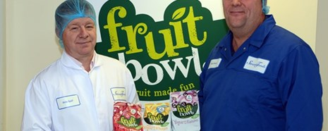 Stream Foods Fruit Snacks, Andy Spall (Left) And Colleague With Product (PR Shot) 600 X 400 Copy