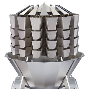 Screwfeeder Multihead Weigher for handling sticky and bulky products at high-speed